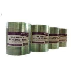 SPINDLE 100 CD-R 52X 700MB -GRADE MED A -IMPRIMABLE BLANC JET D ENCRE HELTIS LINE