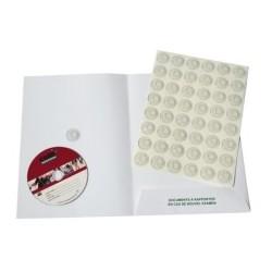 CLIP SUPPORT CD ADHESIF TRANSPARENT/ CARTON DE 21 PLANCHES DE 48 CLIPS CARTON DE 1008