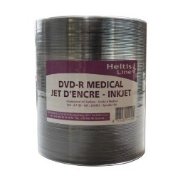 SPINDLE 100 DVD - GRADE MEDICAL A - IMPRIMABLE BLANC THERMIQUE HELTIS LINE