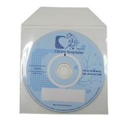 POCHETTE CD AVEC RABAT NON ADHESIF /PRIX PACK CELLOPHANE DE 100 DOS NON ADHESIF