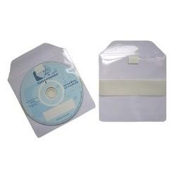 POCHETTE CD AVEC RABAT ADHESIF /PRIX AU CARTON DE 1000 BANDE AUTOCOLLANTE AU DOS : 25mm