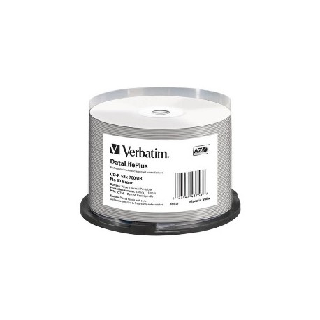 CLOCHE 50 CD-R VERBATIM - 700MB - 52X  - IMPRIMABLES JET D ENCRE