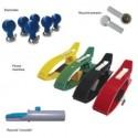 ECG RACCORDS FICHES BANANE Diam 4mm - PRESSION POUR ELECTRODES JEU DE 10 RACCORDS
