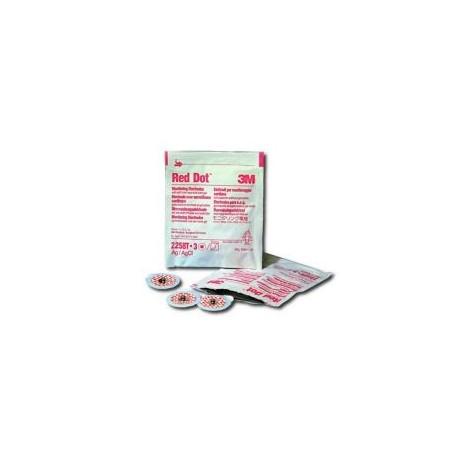 ELECTRODES 3M DIN 1,6mm PRE-CABLEE 2,2x2,2cm ENFANT ADHESIF REPOSITIONNABLE / PAR 3