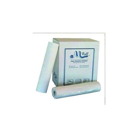DRAP EXAMEN LISSE - BLANC - OUATE - 150 FORMATS - PREDECOUPES 50x38cm CARTON DE 12 ROULEAUX