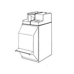 TAIE D OREILLER HANDYDRAPE CARREE  65x65cm ET RABAT 8cm CARTON DE 200