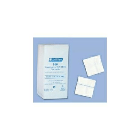 COMPRESSE NON-TISSEE / NON-STERILE / 4 PLIS / 30g / 5x5cm Sachet de 100