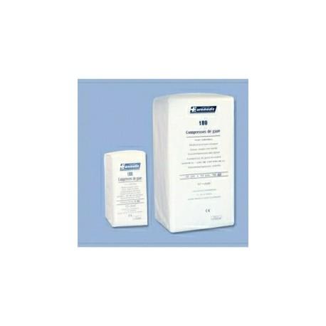 COMPRESSE GAZE NON-STERILE / 17 FILS / 12 PLIS / 10x10cm (33x40) Sachet de 100