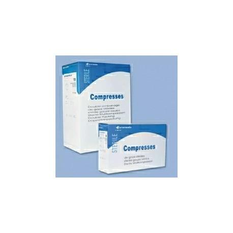 COMPRESSE GAZE STERILE / 17 FILS / 12 PLIS / 10x10cm (30x40) Bo te de 100 Sachets Individuels