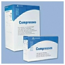 COMPRESSE GAZE STERILE / 17 FILS / 16 PLIS / 7,5x7,5cm (30x30) Bo te de 100 Sachets Individuels