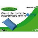 GANTS DE TOILETTE HANDYCLEAN RENFORCES NON TISSE BLEU 35g/m2 - 22x15cm Bo te de 100 Gants