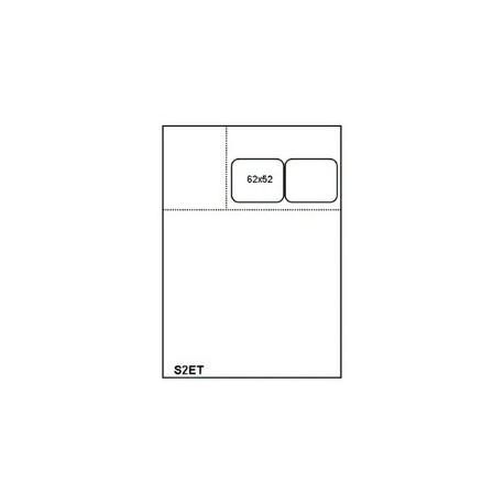 1000 Fiches Suivi de Patient Universelle SESAM A4 - S2ET 2 Etiquettes 62x53