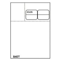 1000 Fiches Suivi de Patient Universelle SESAM A4 - S4ET 2x2 Etiquettes 62x53 fente mi-coeur