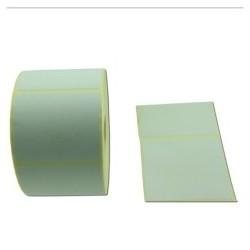 Rlx 1000 Etiquettes Velin blanc adhesif permanent 60x50mm Diam MANDRIN 25mm - PREDECOUPE