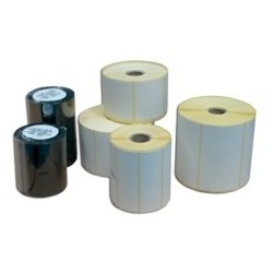 Rlx 1000 Etiquettes Velin Blanc Adhesif Permanent 90x30mm MANDRIN 25mm