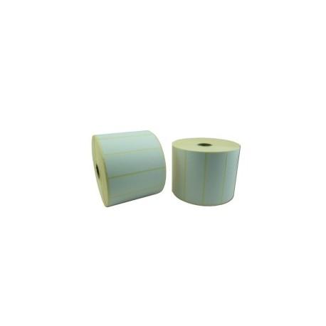Rlx 2500 Etiquettes Velin Blanc Adhesif Permanent 90x30mm Mandrin 25mm