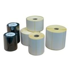 Rlx 1000 Etiquettes Velin Blanc Adhesif Permanent 97x48mm MANDRIN 40mm
